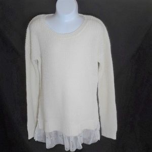 Pink Republic Girl's Cream Sweater Dress - Size S